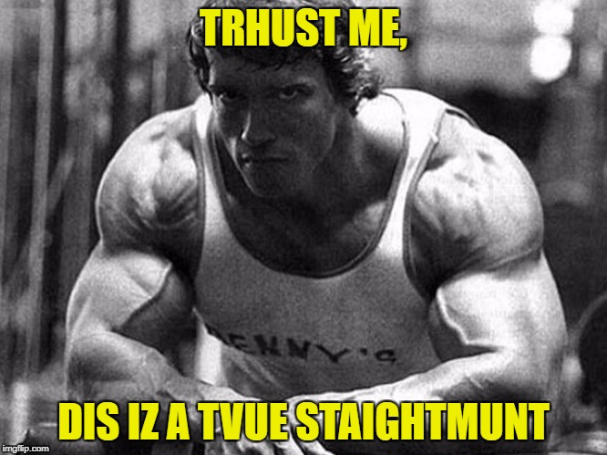 TRHUST ME, DIS IZ A TVUE STAIGHTMUNT | made w/ Imgflip meme maker