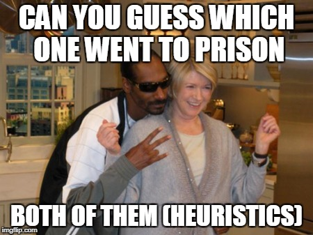 CAN YOU GUESS WHICH ONE WENT TO PRISON BOTH OF THEM (HEURISTICS) | image tagged in heuristic | made w/ Imgflip meme maker
