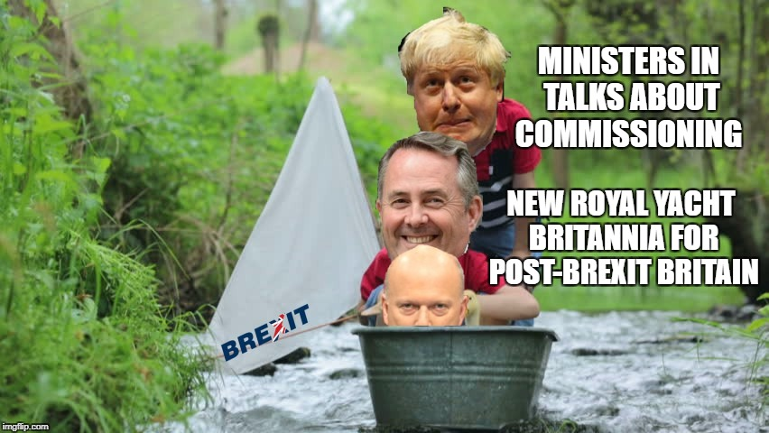 Britannia rule the waves | MINISTERS IN TALKS ABOUT COMMISSIONING NEW ROYAL YACHT BRITANNIA FOR POST-BREXIT BRITAIN | image tagged in brexit,trade | made w/ Imgflip meme maker