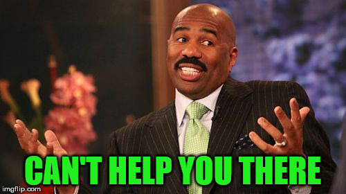 Steve Harvey Meme | CAN'T HELP YOU THERE | image tagged in memes,steve harvey | made w/ Imgflip meme maker