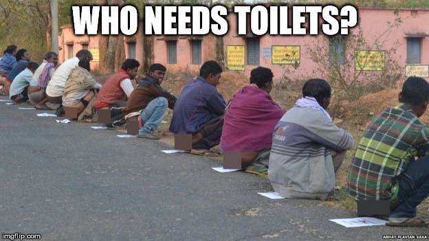 poopprotest | WHO NEEDS TOILETS? | image tagged in poopprotest | made w/ Imgflip meme maker