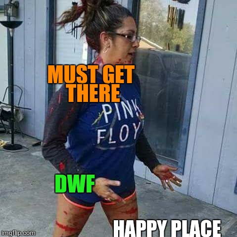 DWF HAPPY PLACE MUST GET THERE | image tagged in dwf,happy place | made w/ Imgflip meme maker
