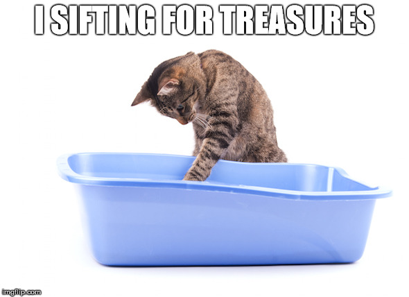I SIFTING FOR TREASURES | made w/ Imgflip meme maker