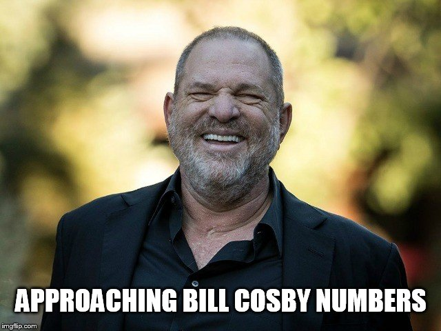 Harvey vs Bill | APPROACHING BILL COSBY NUMBERS | image tagged in memes,harvey weinstein,bill cosby,pervert,scumbag hollywood,scandal | made w/ Imgflip meme maker