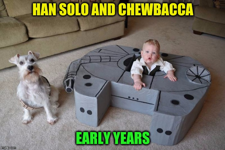 Uuuurrr Arrrrrg Uhrrrrr Arrrbg!!! ^( '-' )^ |  HAN SOLO AND CHEWBACCA; EARLY YEARS | image tagged in memes,funny,star wars,early years,han solo,chewbacca | made w/ Imgflip meme maker