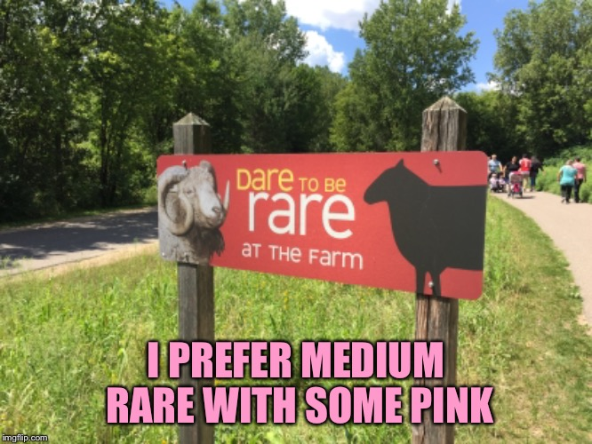 I like mine with some pink | I PREFER MEDIUM RARE WITH SOME PINK | image tagged in medium rare,rare,if you can grill it ill eat eat it,how about the giraffe,photos by ghost | made w/ Imgflip meme maker