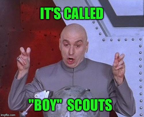 "Hellooooooo | IT'S CALLED ""BOY""  SCOUTS 