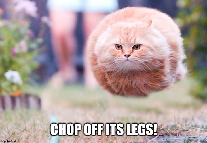 CHOP OFF ITS LEGS! | made w/ Imgflip meme maker