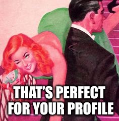 THAT'S PERFECT FOR YOUR PROFILE | made w/ Imgflip meme maker