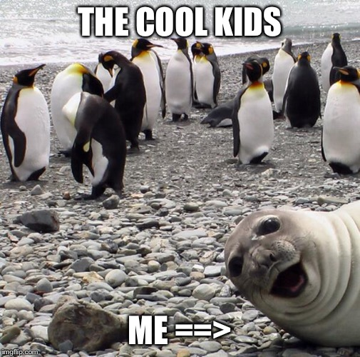 THE COOL KIDS ME ==> | image tagged in me and the cool kids | made w/ Imgflip meme maker