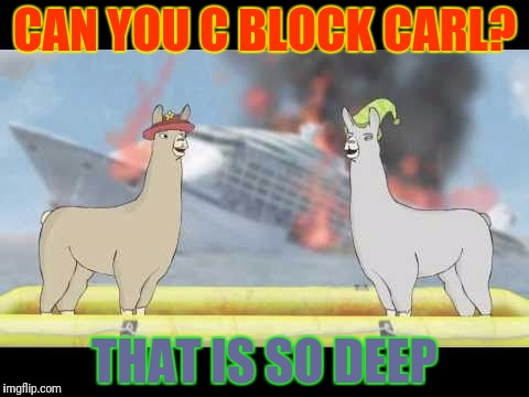 CAN YOU C BLOCK CARL? THAT IS SO DEEP | made w/ Imgflip meme maker