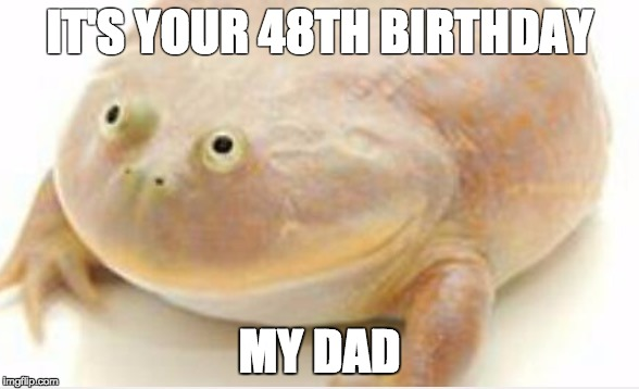 IT'S YOUR 48TH BIRTHDAY MY DAD | image tagged in it's wednesday my dudes | made w/ Imgflip meme maker