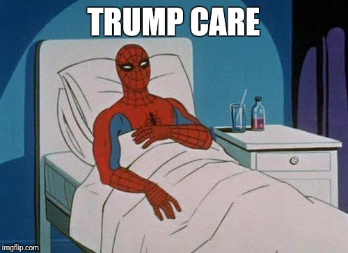 Spiderman Hospital Meme | TRUMP CARE | image tagged in memes,spiderman hospital,spiderman | made w/ Imgflip meme maker