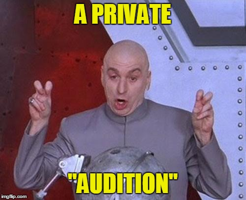 "Dr Evil Laser Meme | A PRIVATE ""AUDITION"" 