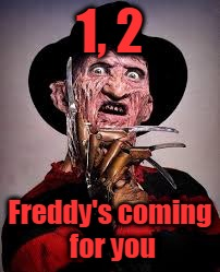 1, 2 Freddy's coming for you | made w/ Imgflip meme maker