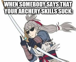 """They don't, scum!"" 