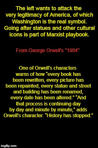 """1984"" warns about removing statues 