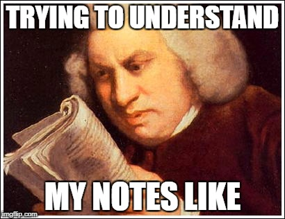 TRYING TO UNDERSTAND MY NOTES LIKE | image tagged in college,art,oil painting,relatable | made w/ Imgflip meme maker