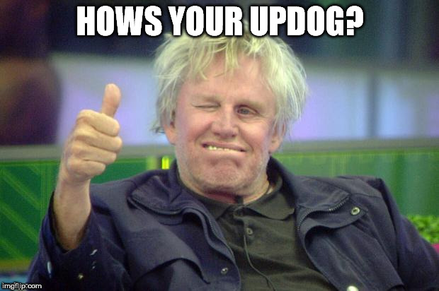 HOWS YOUR UPDOG? | image tagged in buisey juiced | made w/ Imgflip meme maker
