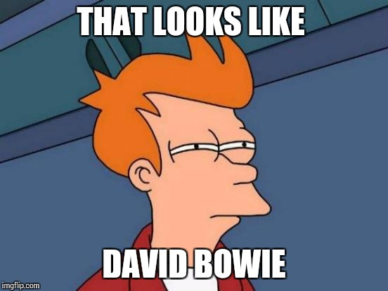 Futurama Fry Meme | THAT LOOKS LIKE DAVID BOWIE | image tagged in memes,futurama fry | made w/ Imgflip meme maker