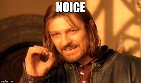 One Does Not Simply Meme | NOICE | image tagged in memes,one does not simply | made w/ Imgflip meme maker