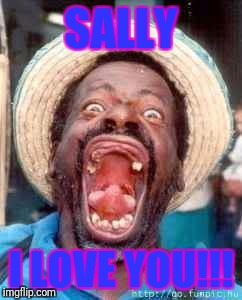 Funny no tooth | SALLY I LOVE YOU!!! | image tagged in funny no tooth | made w/ Imgflip meme maker