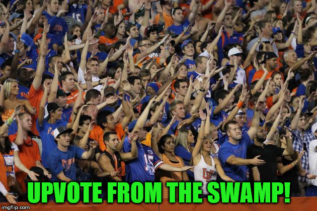 Gator Chomp | UPVOTE FROM THE SWAMP! | image tagged in gator chomp | made w/ Imgflip meme maker