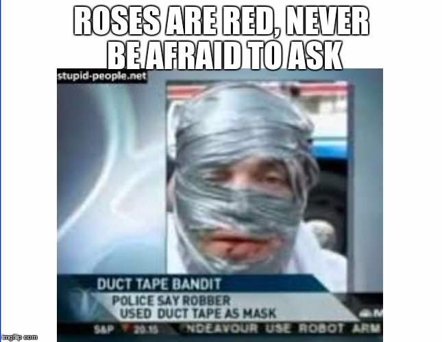 ROSES ARE RED,NEVER BE AFRAID TO ASK | image tagged in roses are red | made w/ Imgflip meme maker