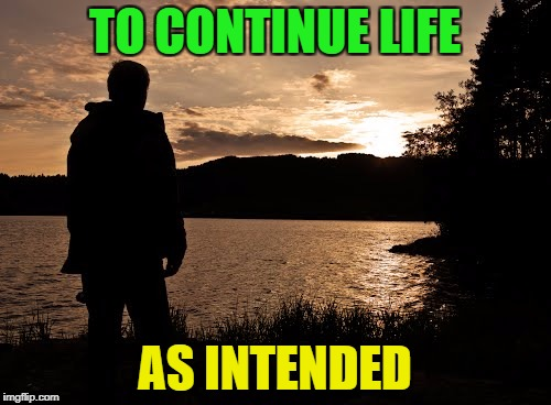 TO CONTINUE LIFE AS INTENDED | made w/ Imgflip meme maker