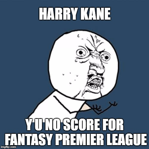 Y U No Meme | HARRY KANE Y U NO SCORE FOR FANTASY PREMIER LEAGUE | image tagged in memes,y u no | made w/ Imgflip meme maker