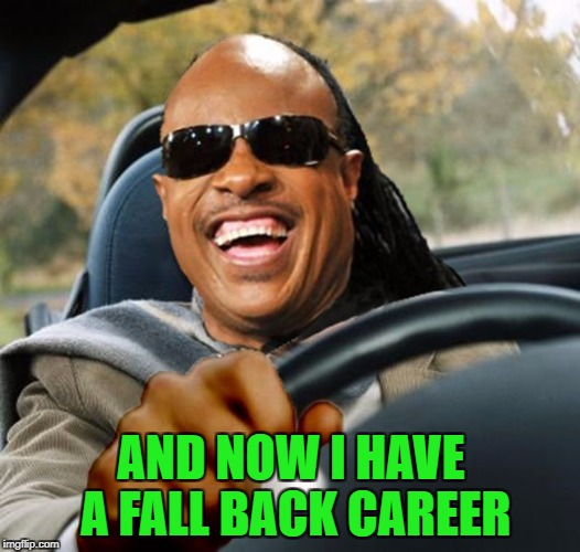 AND NOW I HAVE A FALL BACK CAREER | made w/ Imgflip meme maker
