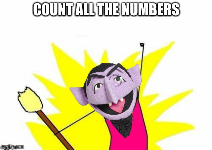 COUNT ALL THE NUMBERS | made w/ Imgflip meme maker