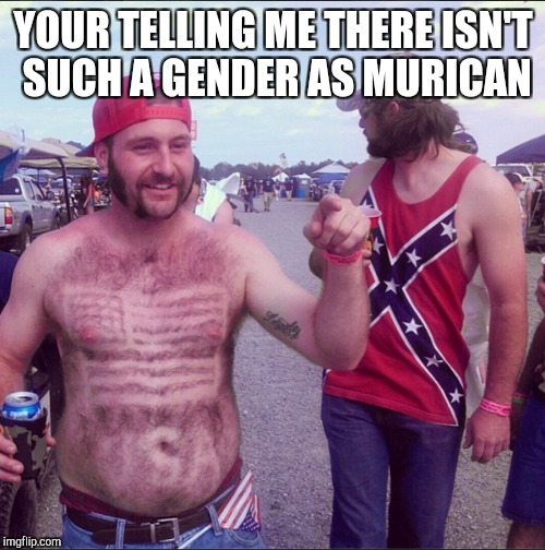 YOUR TELLING ME THERE ISN'T SUCH A GENDER AS MURICAN | made w/ Imgflip meme maker