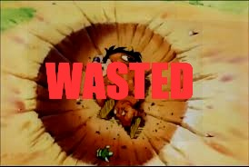 What a Wasted  | WASTED | image tagged in dbz | made w/ Imgflip meme maker