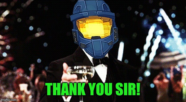 Cheers Ghost | THANK YOU SIR! | image tagged in cheers ghost | made w/ Imgflip meme maker