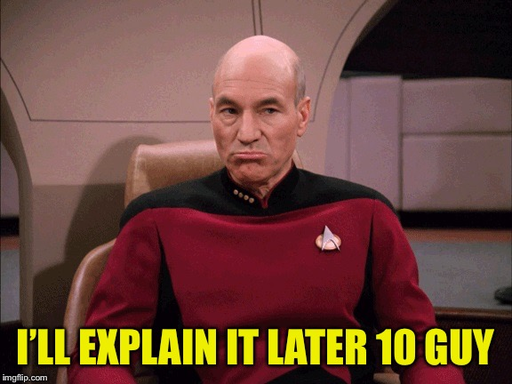 Picard Frowny Face | I'LL EXPLAIN IT LATER 10 GUY | image tagged in picard frowny face | made w/ Imgflip meme maker