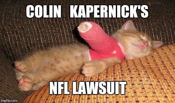 COLIN KAPERNICK'S NFL LAWSUIT | COLIN   KAPERNICK'S NFL LAWSUIT | image tagged in funny,gifs,memes,sports,nfl,animals | made w/ Imgflip meme maker