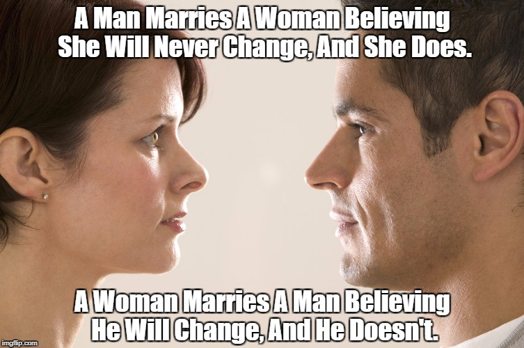 """Why Men Marry Women, And Why Women Marry Men"" 