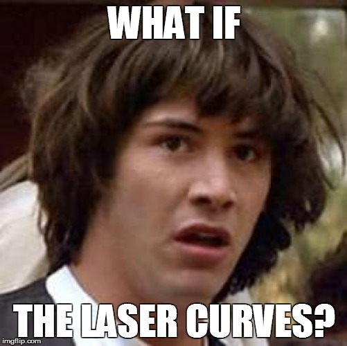 Keanu about laser curving | WHAT IF THE LASER CURVES? | image tagged in memes,conspiracy keanu,keanu reeves,laser curves,flat earth,curve | made w/ Imgflip meme maker