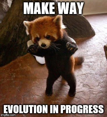 Animals to humans | MAKE WAY EVOLUTION IN PROGRESS | image tagged in animals to humans | made w/ Imgflip meme maker