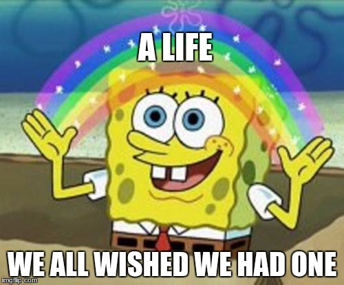 Sponge Bob | A LIFE WE ALL WISHED WE HAD ONE | image tagged in sponge bob | made w/ Imgflip meme maker
