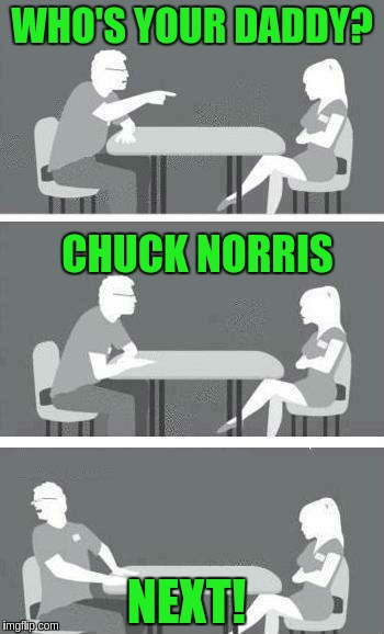 Speed Dating | WHO'S YOUR DADDY? CHUCK NORRIS NEXT! | image tagged in speed dating | made w/ Imgflip meme maker