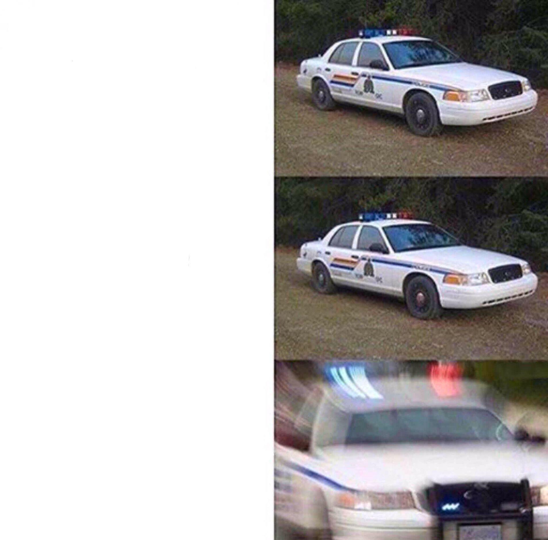 police car meme blank template imgflip