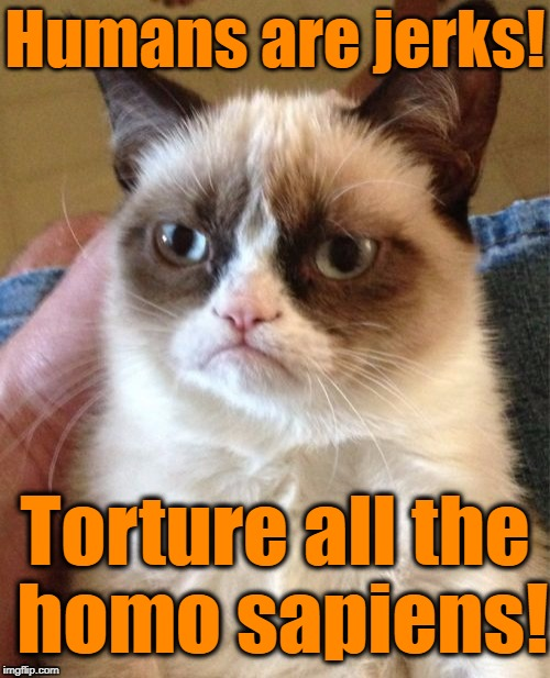 """HATE on humans"" year! January 1 - December 31 (A Grumpy Cat and Oscar the Grouch event) 