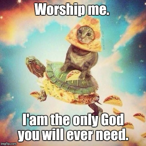 Worship me. I'am the only God you will ever need. | made w/ Imgflip meme maker
