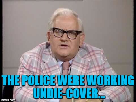 THE POLICE WERE WORKING UNDIE-COVER... | made w/ Imgflip meme maker