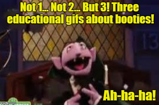 Not 1... Not 2... But 3! Three educational gifs about booties! Ah-ha-ha! | made w/ Imgflip meme maker