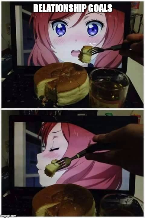No words needed. | RELATIONSHIP GOALS | image tagged in meme,love live,maki | made w/ Imgflip meme maker