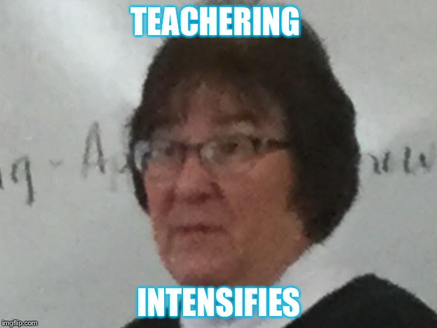 TEACHERING INTENSIFIES | image tagged in scumbag | made w/ Imgflip meme maker