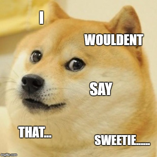 Doge Meme | I WOULDENT SAY THAT... SWEETIE...... | image tagged in memes,doge | made w/ Imgflip meme maker